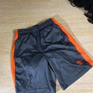 orange umbro shorts